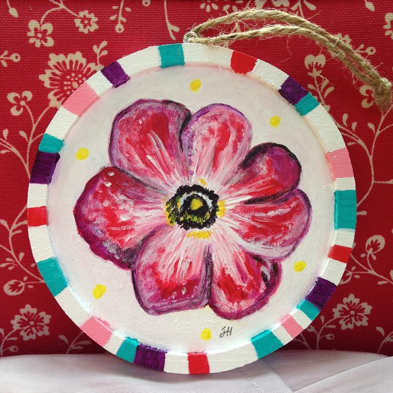 anemone art plaque