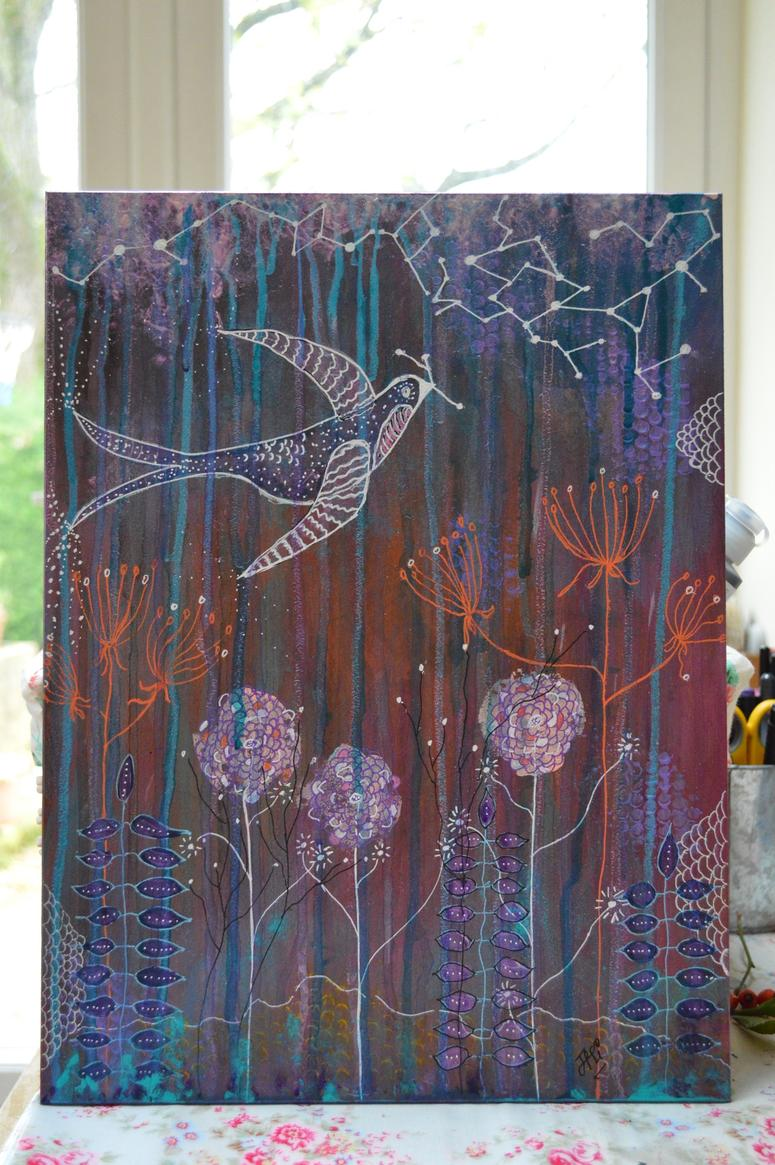 star bird painting