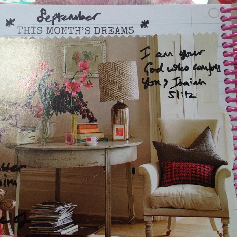 September 2015 dreams and goals