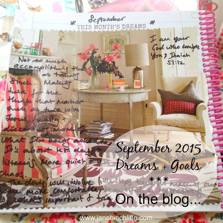 September 2015 dreams goals