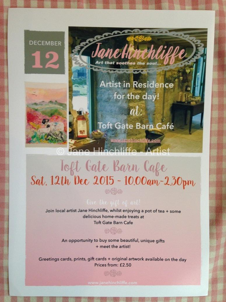 Artist in Residence - Toft Gate Barn Cafe