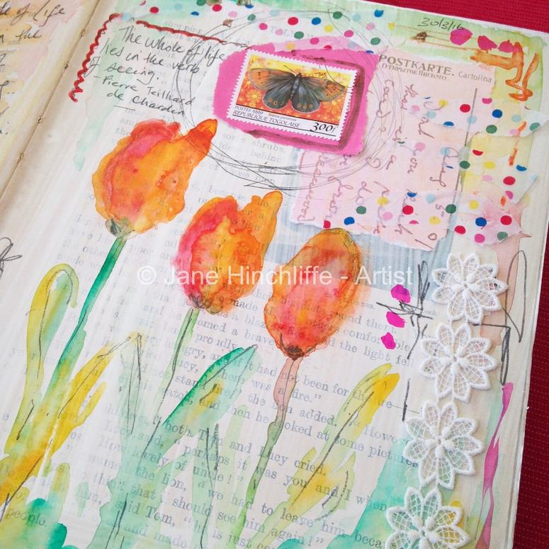 Tulips - journal page