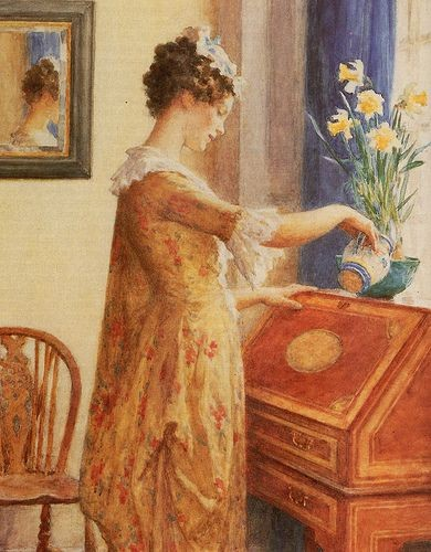 Daffodils, William Henry Margetson. Spring into your creativity
