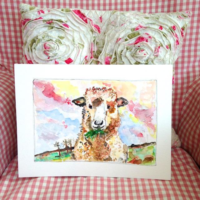 'Ewe Must Be Joking!' - Then as a young adult, art took a back seat.  I lived in the USA for some years, got married and had a baby.  Later I returned to the UK and it wasn't until our youngest son started school, that I heard the 'call' to create some artwork once again.  Creativity and I have become well and truly re-united once again - it's felt like coming home!