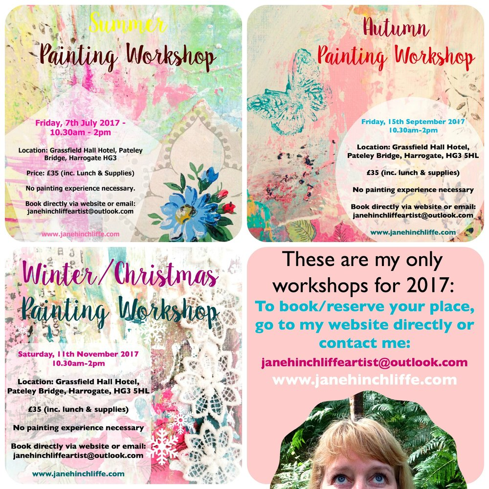 All workshops are held at Grassfield Hall, Pateley Bridge HG3 - UK. Fri, 15th September 2017 Sat, 11th November 2017