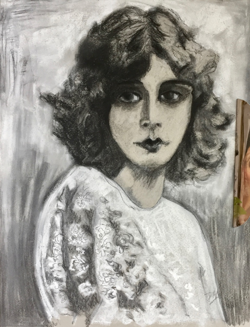 Project 2 - Charcoal Portrait On Coloured Paper - Create an evocative piece using charcoal.  Enjoy blending layers of charcoal and building up tone, form and line in order to give depth, emotion and realism to your piece.  You are going to be astounded with this process!