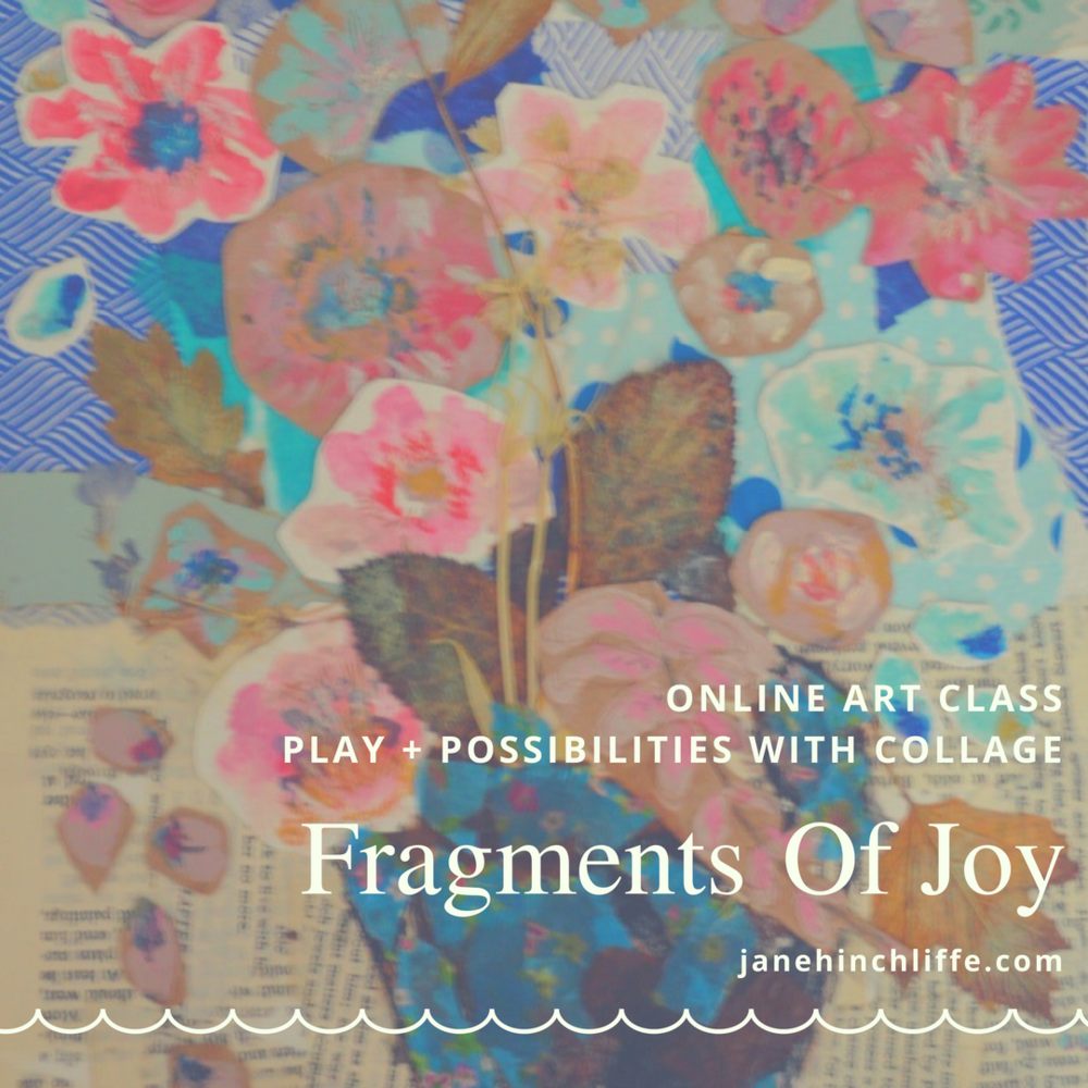 Fragments Of Joy - Classroom Open - Self Paced and Lifetime AccessIf you can cut and tear, you can collage...This class is all about letting go and telling your story using collage.  Enjoy the feeling of spontaneity as you create collages using 'fragments of joy' ie. bits of paper, fabric, lace etc.Collage is great for the beginner and to those who feel that they are 'not creative' - it's a great medium to boost your self-confidence and start creating pieces your truly proud of.  Equally, as an artist, collage can be used to explore new ideas with immediacy; ideal for creative block. Finally, embrace play and make art that doesn't have to 'make sense' but instead makes you feel joyful!