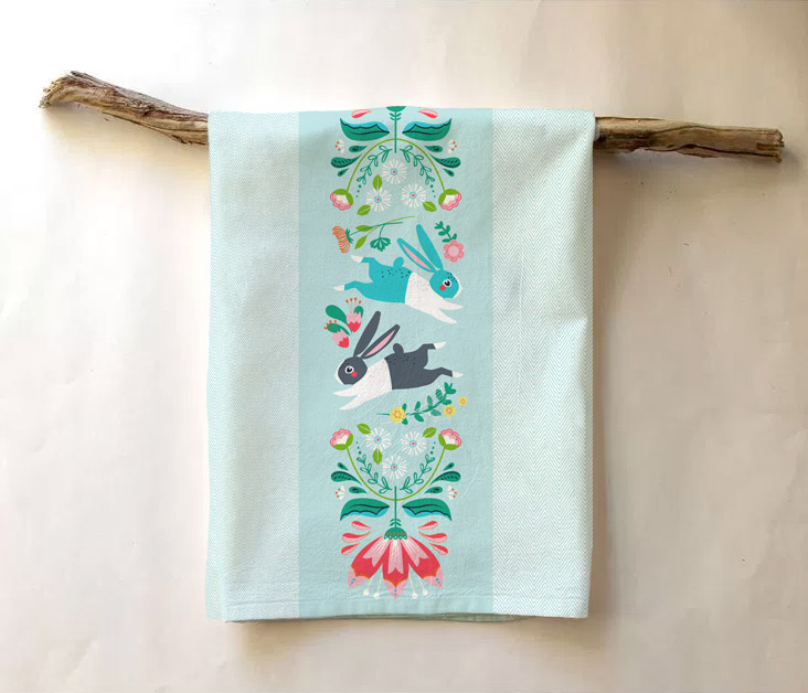 Tea towel mock-up