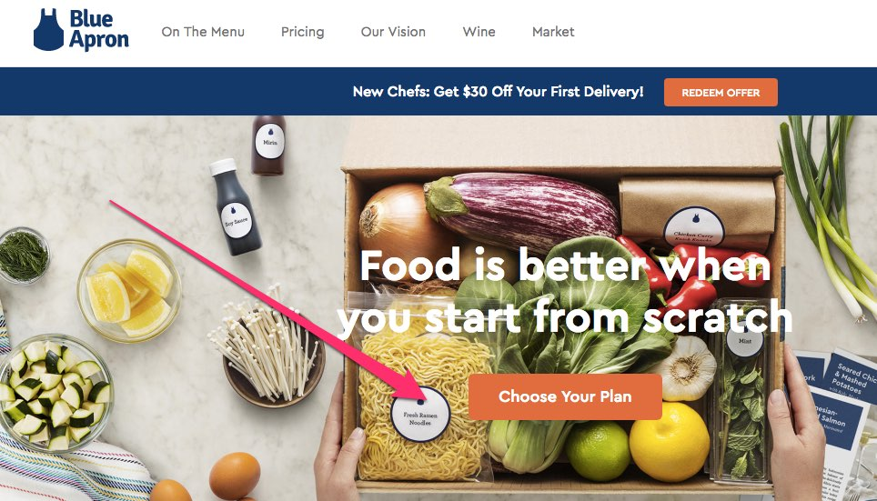 sign up for blue apron