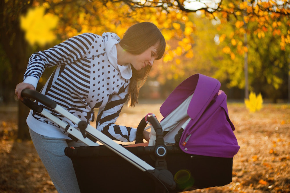 workout with baby in stroller