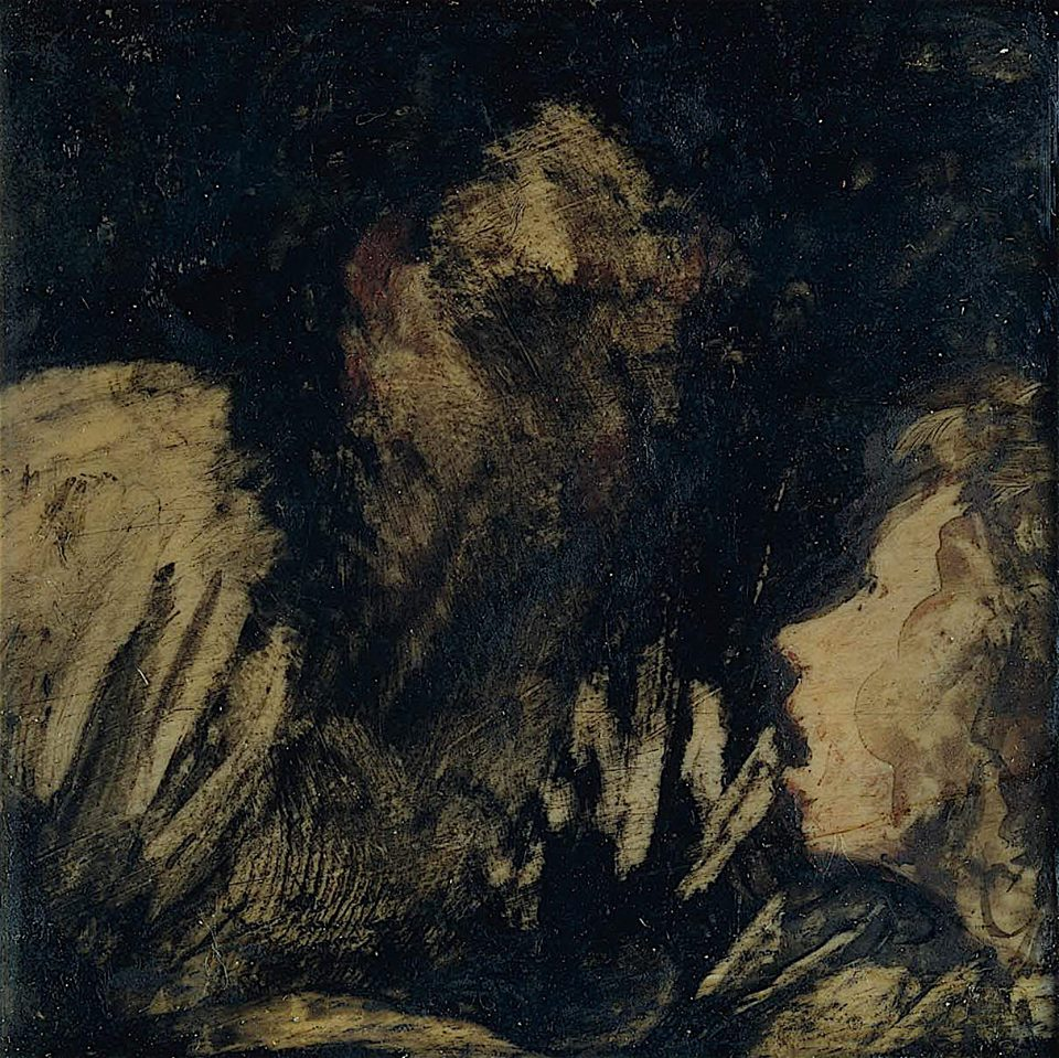 Boy Staring at an Apparition (1824-25) - Francisco Goya