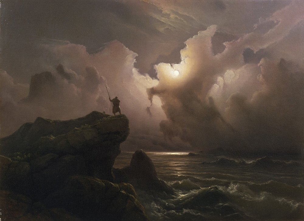 Scene from the Era of Norwegian Sagas, Knud Baade, 1850