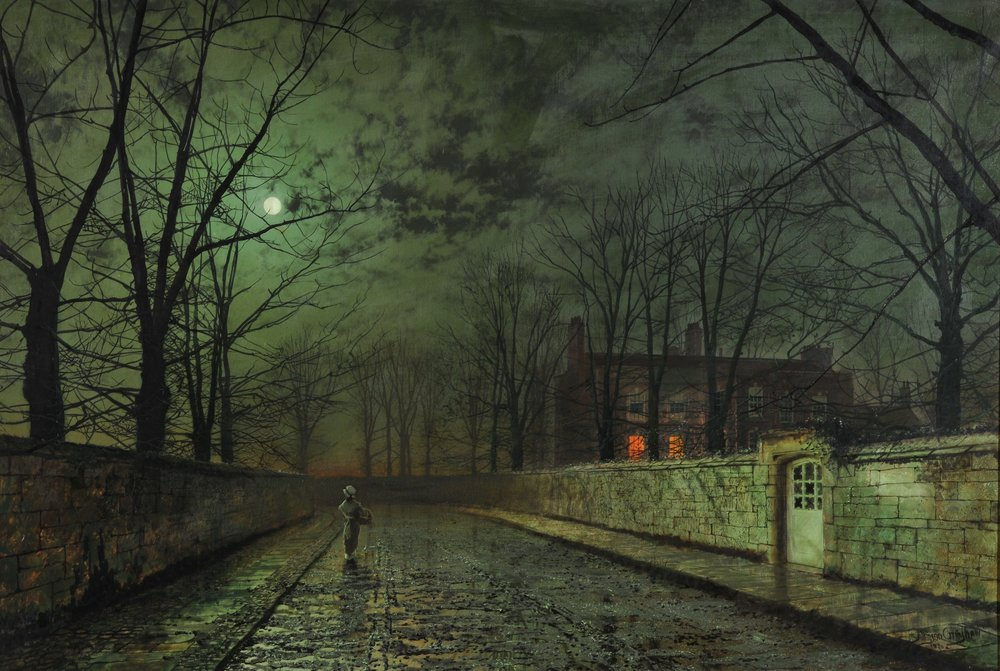 Moonlight After Rain, John Atkinson Grimshaw