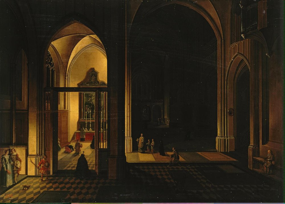 'Interior of a Gothic Church' (1649) by Pieter Neeffs I; State Hermitage Museum, St. Petersburg