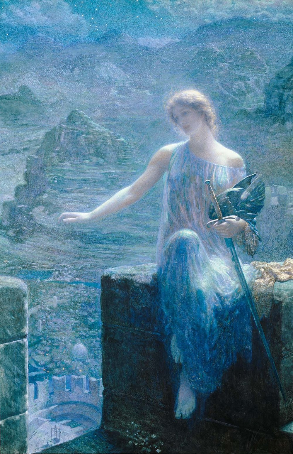 The Valkyre's Vigil (England, 1906), EDWARD ROBERT HUGHES