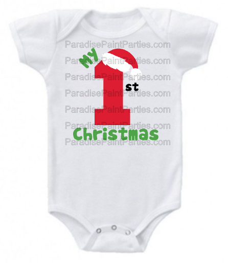 3748d7ec1 My First Christmas Onesie — Paradise Paint Parties & Gifts