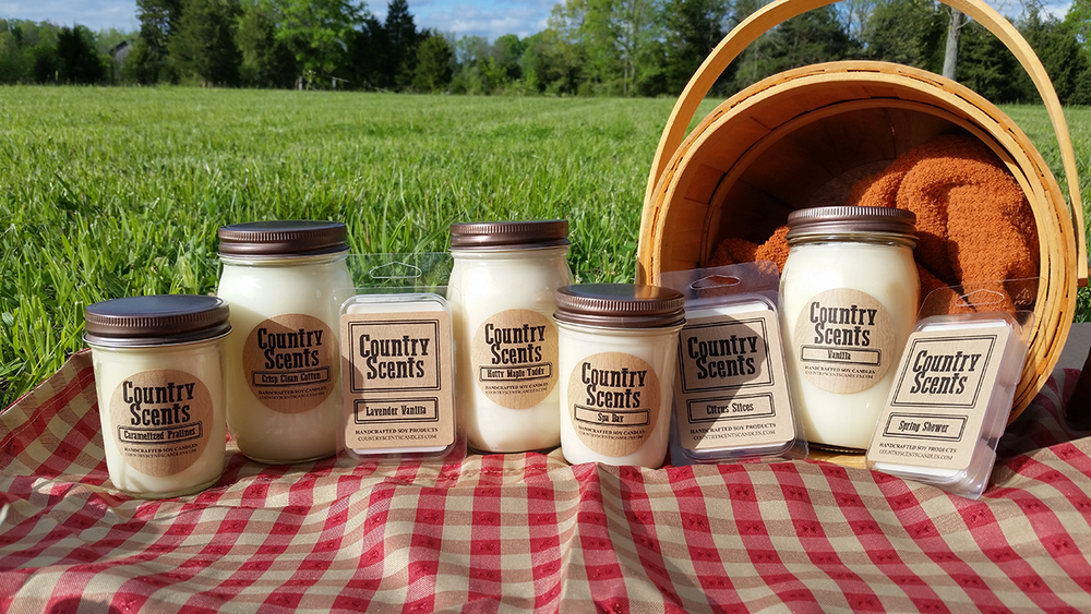 Country Scents Candles ParadisePaintParties.com