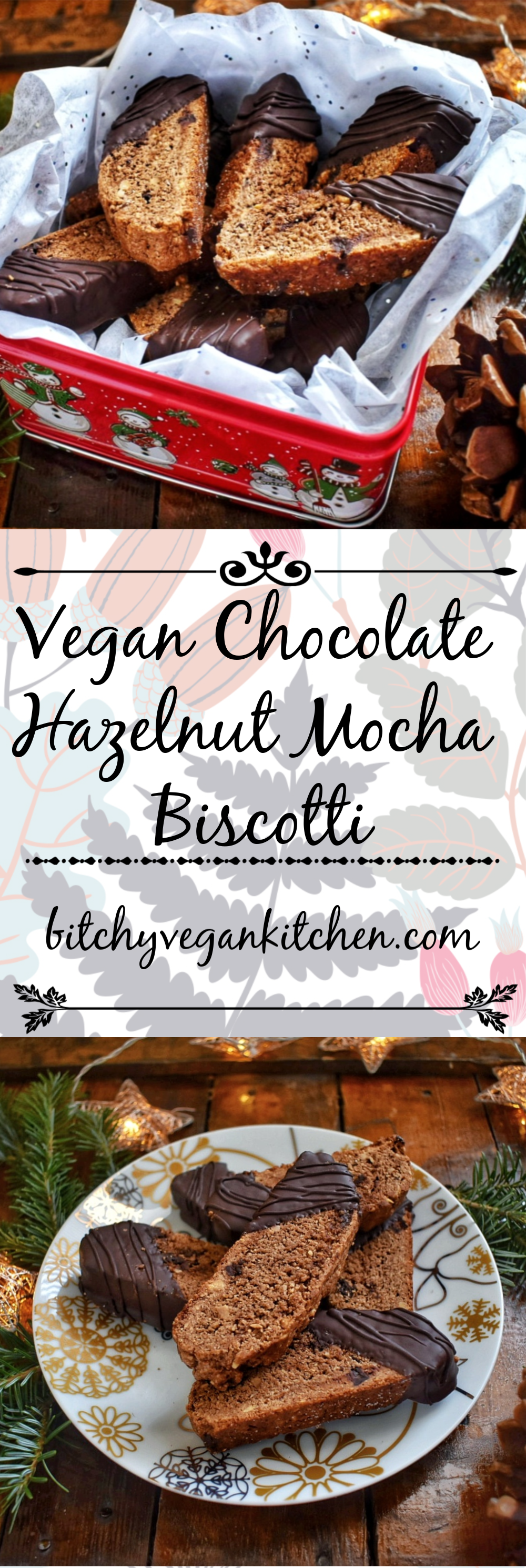 Vegan Chocolate Hazelnut Mocha Biscotti - The Bitchy Baker