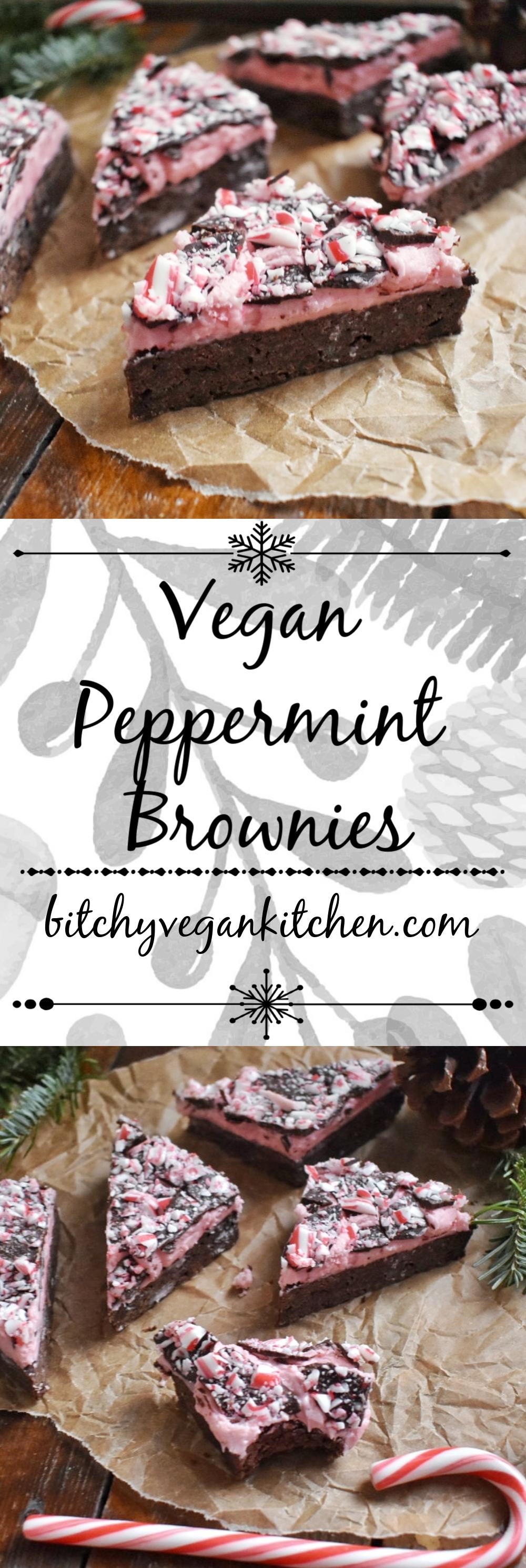 Vegan Peppermint Brownies - The Bitchy Baker