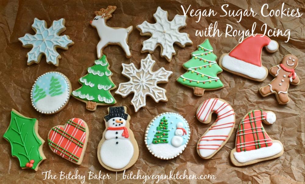 Vegan Decorated Sugar Cookies - The Bitchy Baker