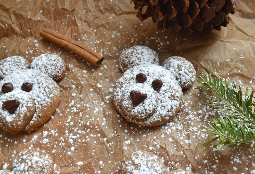 Vegan  Cinnamon Polar Bear Cookies - The Bitchy Baker