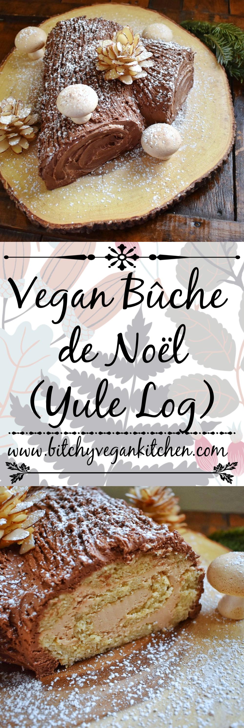 Vegan Bûche de Noël - The Bitchy Baker