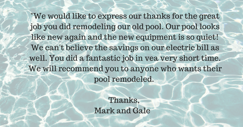 Everything Mike from Paradise pools told us was excellent. Im a contractor for home heating, air conditioning and solar. I've been in business for forty years, so i know what it takes to do things right. Mike tells  (3).png