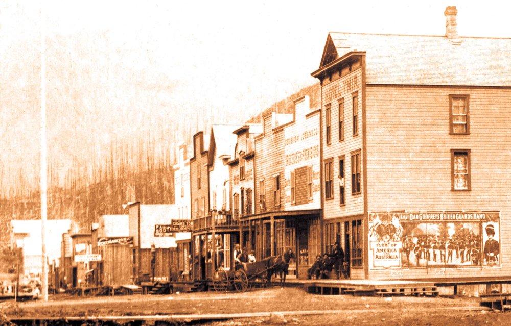 Ymir Main Street, early 1900's