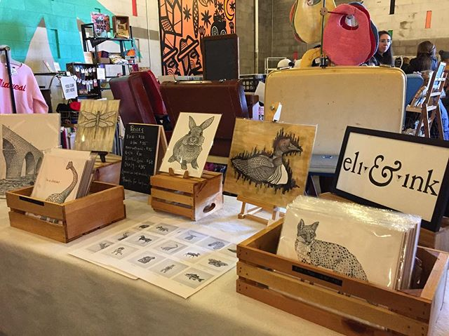 The Holiday market season has officially begun! (For me at least 🤗) I'm at La Doña Cerveceria with @mplscraftmkt until 5. Come get your shopping in early 😜 . . . #brewery #minneapolis #crafts #craftfair #mnmakers #art #printsforsale #illustrator #sundayfunday