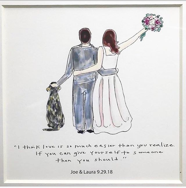 A special gift I made for a very special friend on her wedding day last fall. Looking for a fun, personalized wedding gift? I do it all, folks 🙃 . . . #wedding #weddinggift #weddingdress #family #familyportrait #customportrait #ipadpro #procreate #illustration #illustrator #love #anniversary #valentinesday #drawing #art #sketch #prints #minneapolis #weddingpresent
