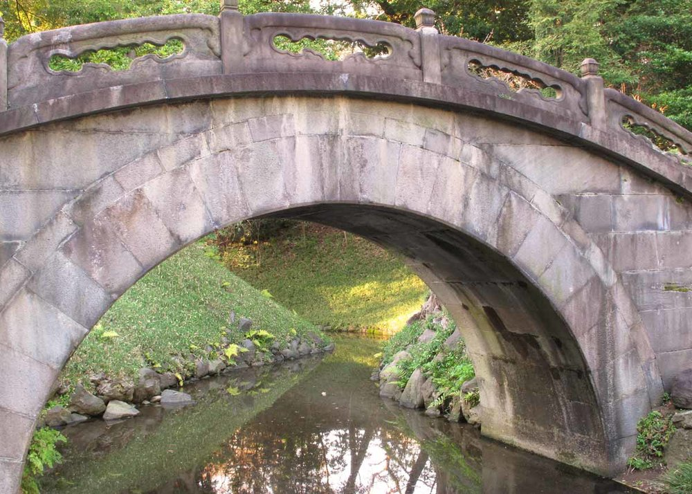 Full-Moon Bridge at Karaku-en