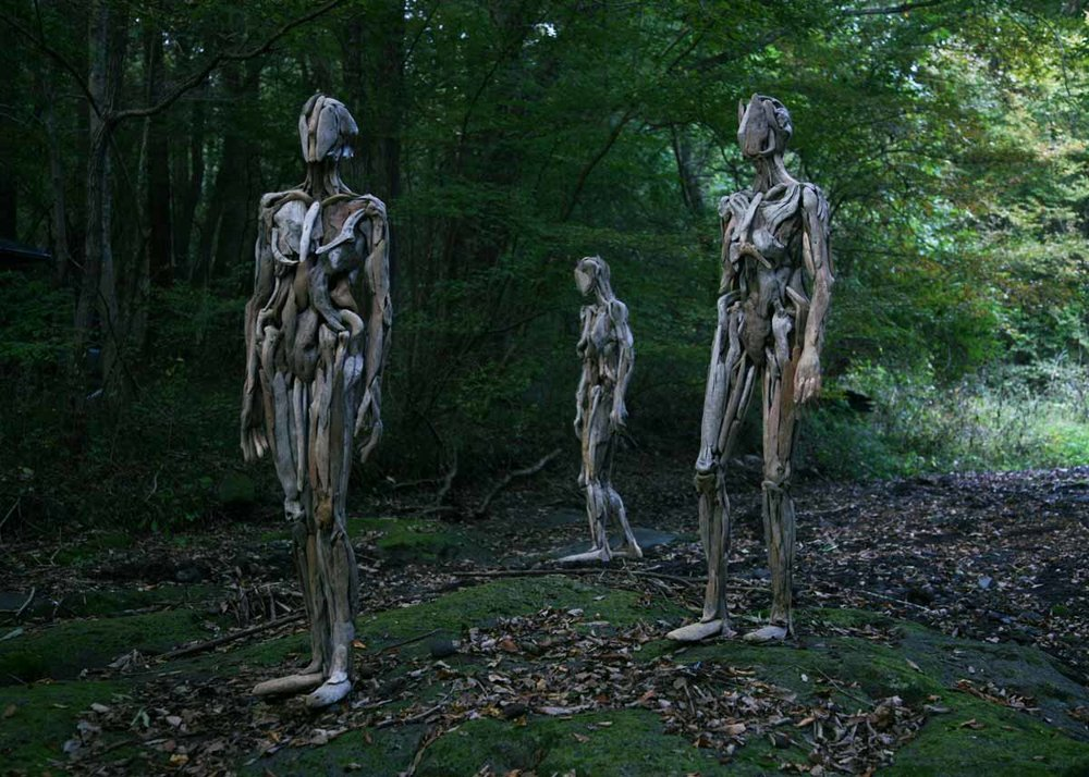 ©Nagato Iwasaki, Torso, Wooden Sculpture