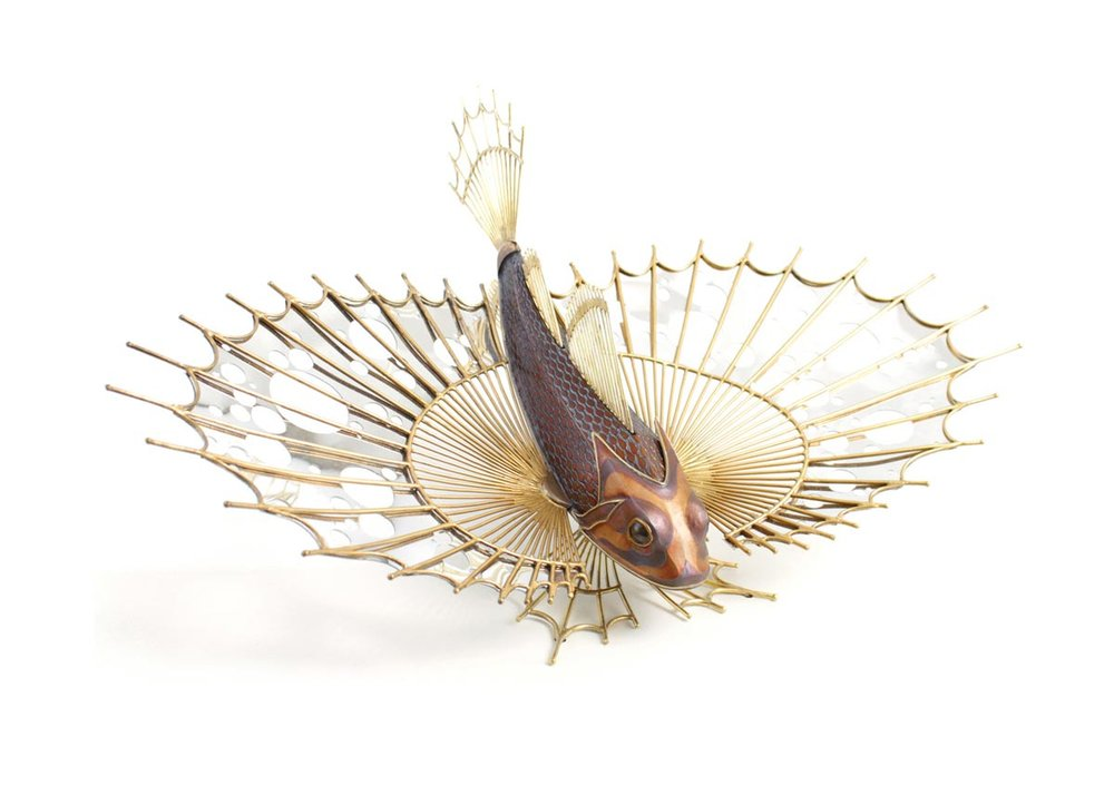 ©Satoshi Mizushiro, Metal Flying Fish Sculpture