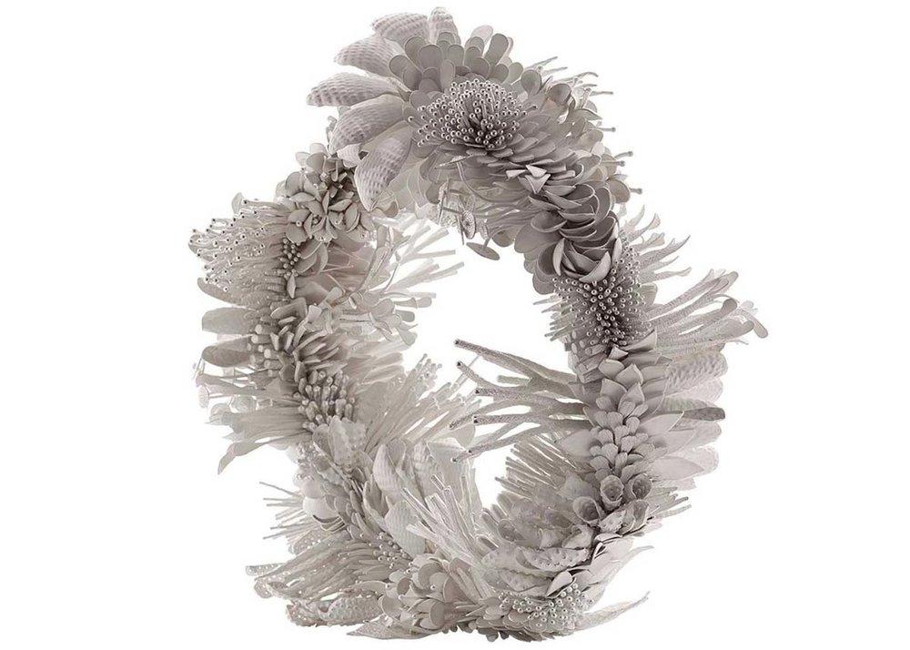 ©Junko Mori, Silver Wreath