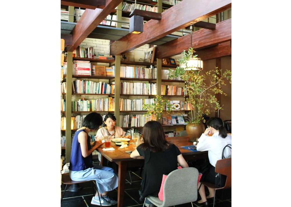 ©  Curated Kyoto , Café Bibliotec Hello Interior