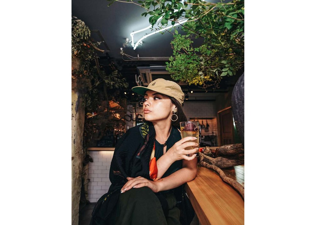 ©  Curated Kyoto , Sara Aiko enjoys a cocktail at Sour Cocktail Bar