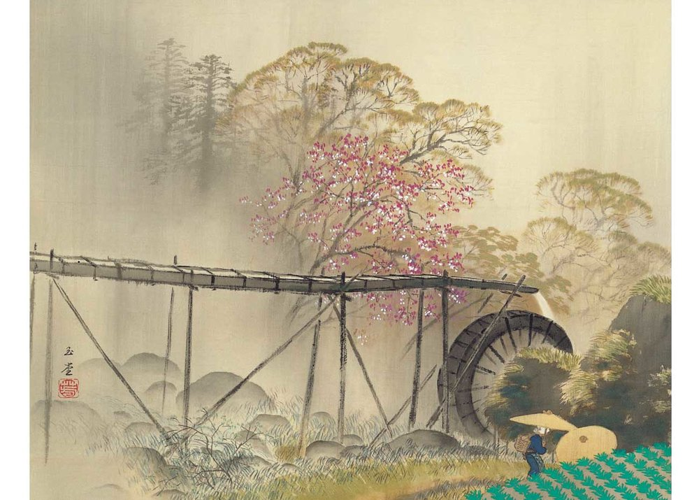 © Gyokudo Kawai, Spring Drizzle, 1942,  Adachi Museum of Art