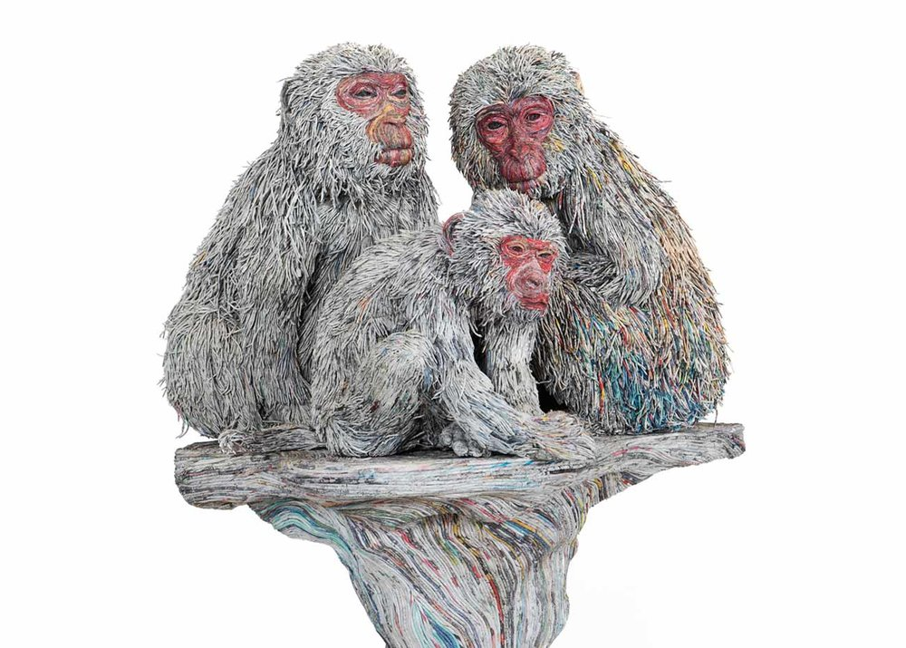 ©Chie Hitotsuyama, Monkey Sculpture