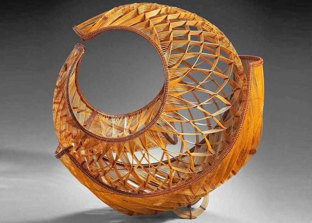 © Yamaguchi Ryuun, Abundant Waters, Bamboo Sculpture