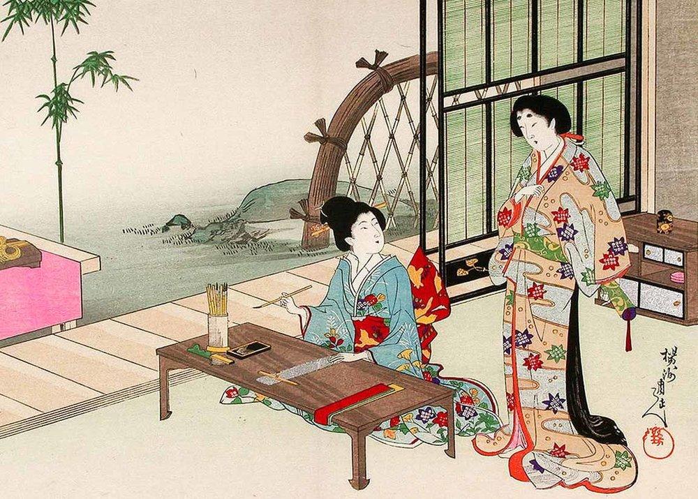 Woodblock Print by Toyohara Chikanobu, 1903