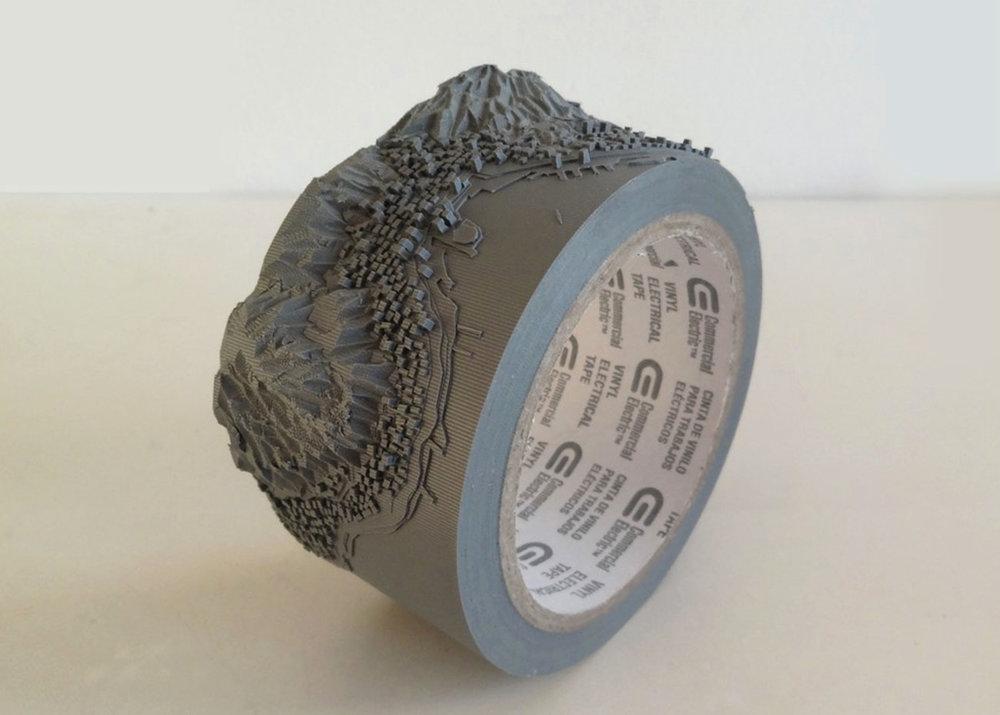 © Takahiro Iwasaki, Duct Tape Sculpture, Geoeye (Victoria Peak), courtesy of  Urano