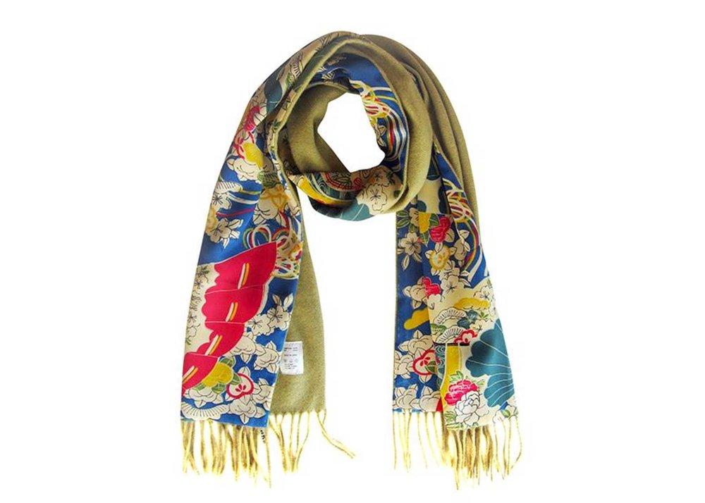 Kimono Silk and Cashmere Scarf