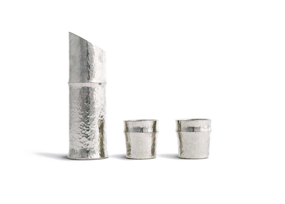 Tin Sake Set by Nousaku