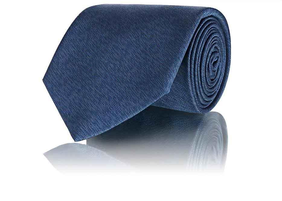 Herringbone Silk Necktie by Fairfax