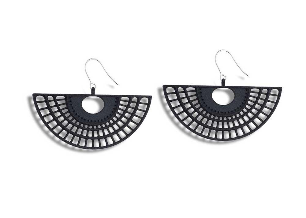 Openwork Fan Earrings by Monocircus
