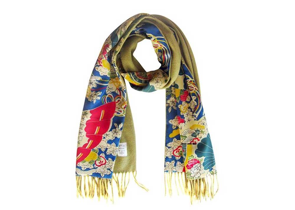 Kimono Silk & Cashmere Scarf by Gallery Shili