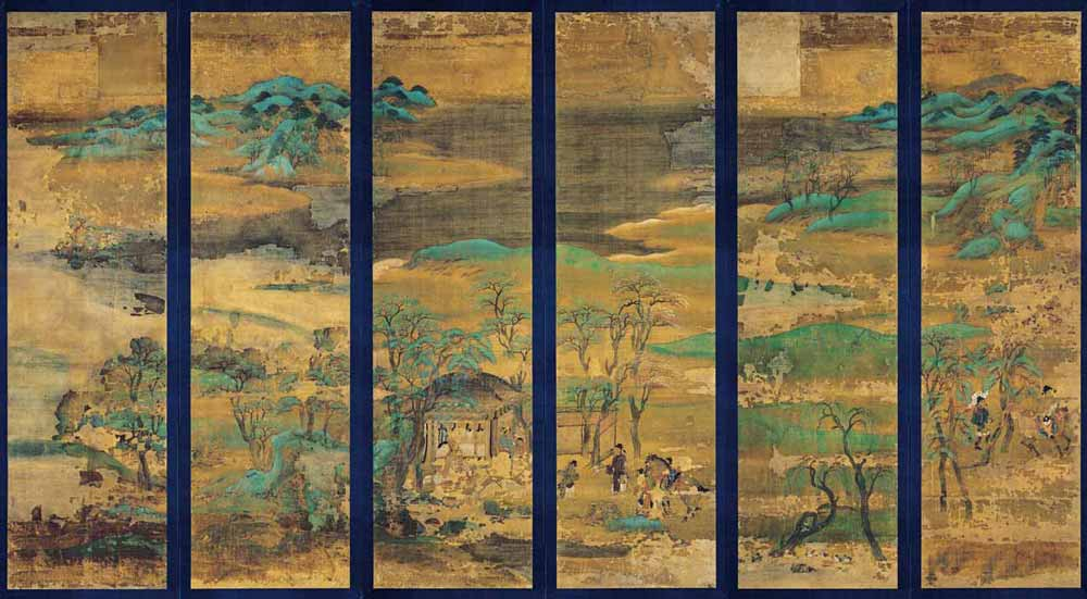 Senzui Byobu, Landscape Screen, 12th century, Kyoto National Museum