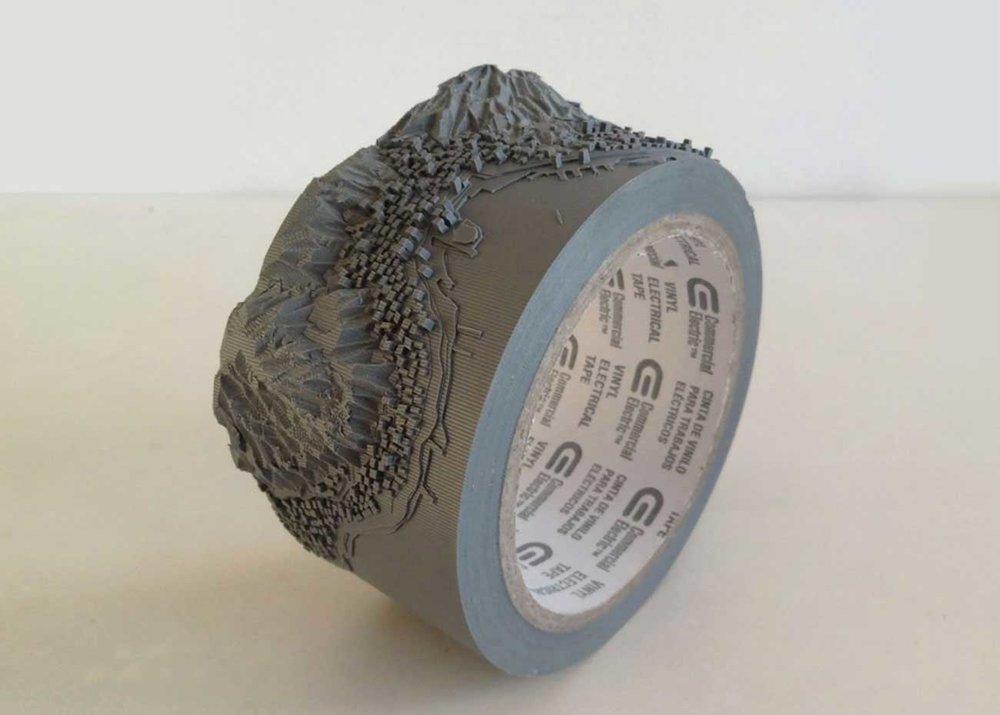 © Takahiro Iwasaki, Duct Tape Scupture, Geoeye (Victoria Peak), courtesy of  Urano