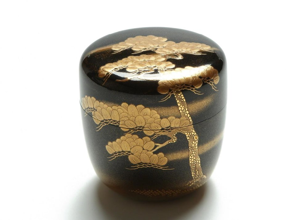 © Kiyose Ikko, Pine Tree Lacquer Tea Caddy
