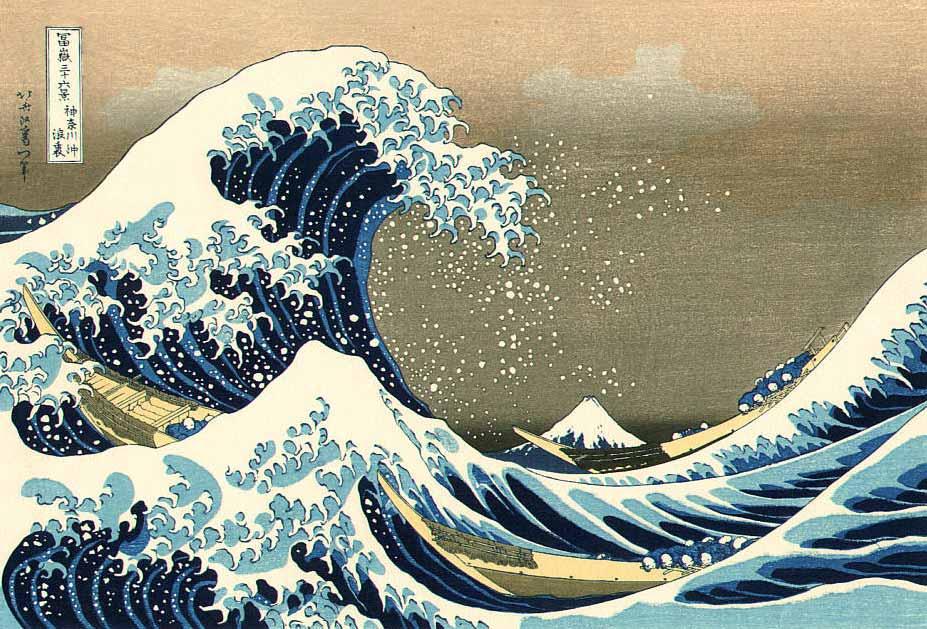 The Great Wave of Kanagawa, Woodblock Print by Katsushika Hokusai